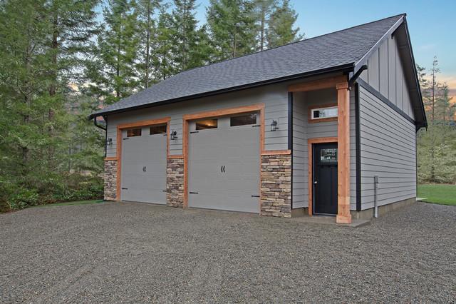 Peyton rustic custom craftsman garage and shed for Craftsman style storage sheds
