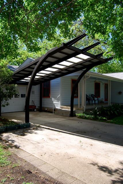 Placid Place Carport Contemporary Garage Austin By