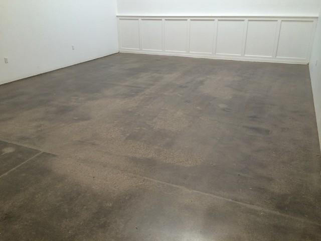 Polished concrete floor nw portland man cave loft for Loft floor construction