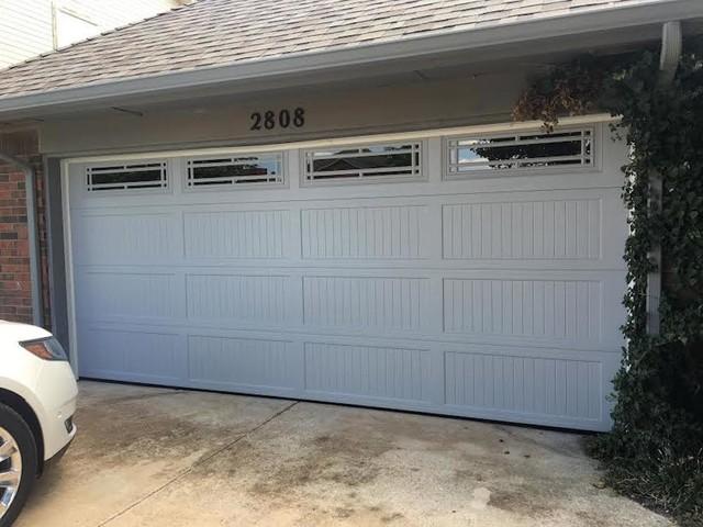 Premium steel series contemporary garage oklahoma for 11 x 7 garage door