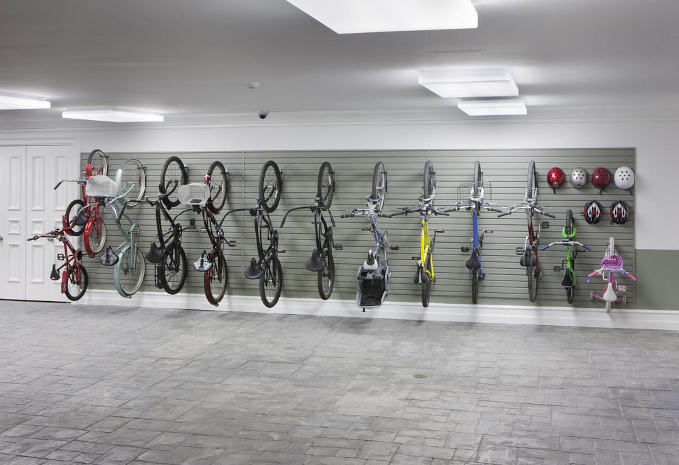 Garage - large contemporary garage idea in Salt Lake City