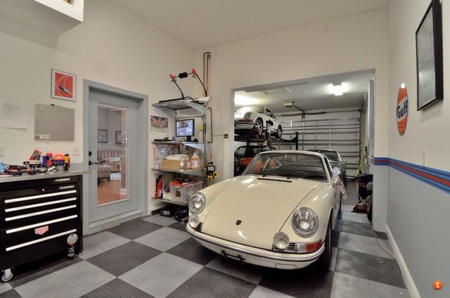 RaceDeck Garage Floors In Home Of Porsche