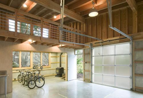 Wood Indoor Garage Indoor Lighting