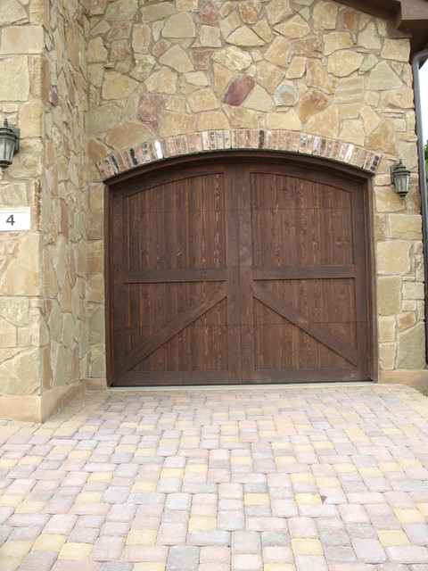 Real wood overhead garage doors rustic garage and shed for Cedar park overhead garage doors