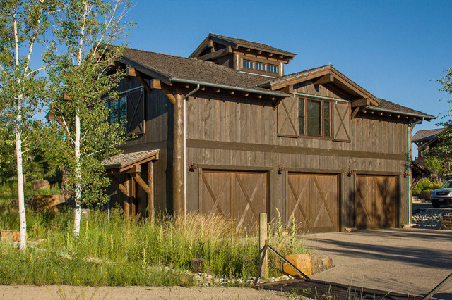 rocky mountain homes mountain timberframe rustic garage - Garage Homes