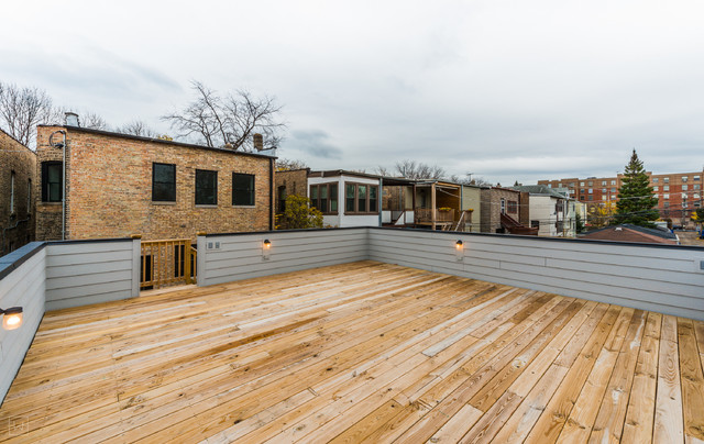 Roof Top Deck Traditional Garage Chicago By