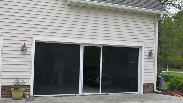 Screens Also Increase Privacy Contemporary Garage