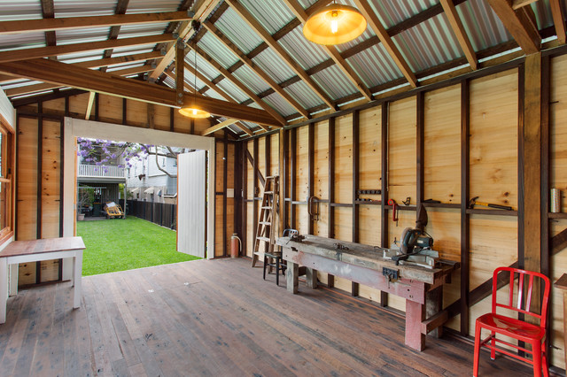 Backyard Man Cave Kits : ShedMan Cave with Underground Wine Cellar  Garage  other metro  by