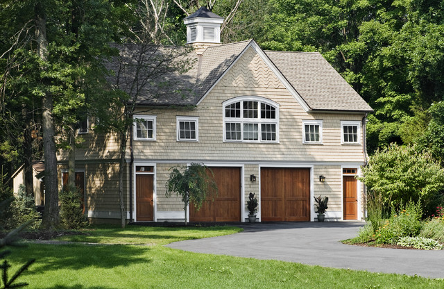 Shingle style garage guest house craftsman garage and for Guest house del garage