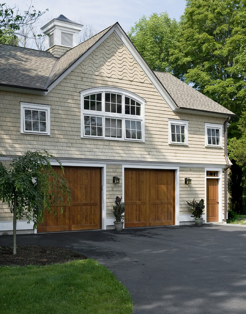 Shingle style garage guest house victorian garage for Victorian garage plans