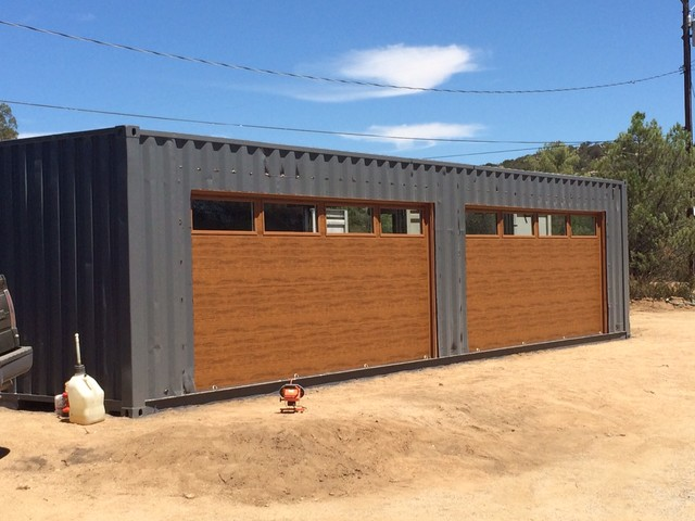 shipping container garage pictures joy studio design. Black Bedroom Furniture Sets. Home Design Ideas