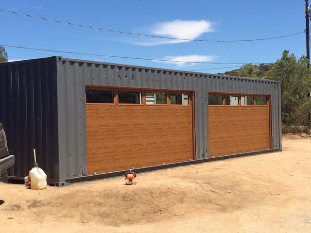garage door business ideas - Shipping Container Garage