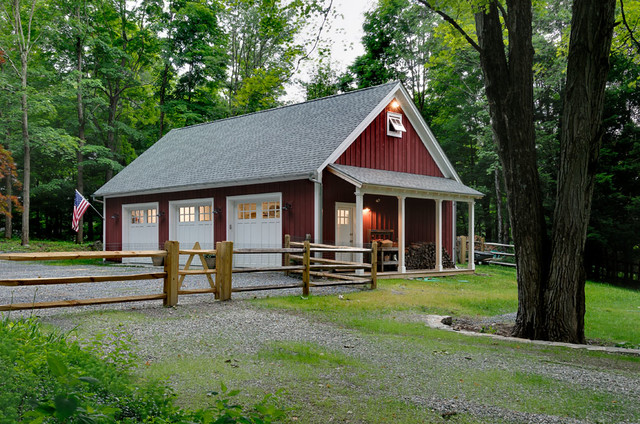 simple garage farmhouse garage and shed new york