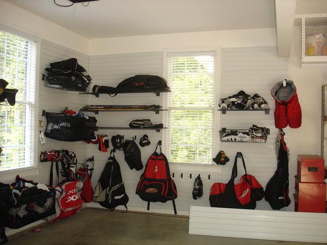 Sports Equipment Storage Transitional Garage