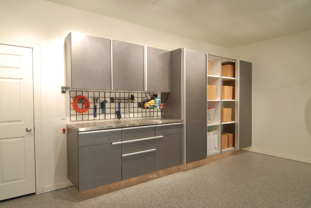 Stainless Steel Garage Cabinets Contemporary Garage