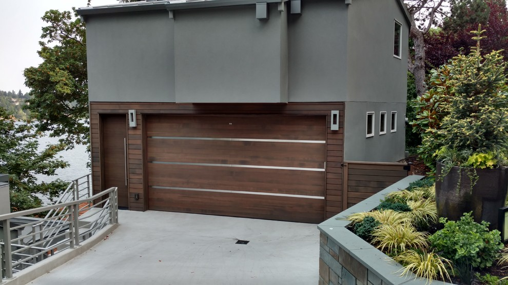 Example of a trendy garage design in Seattle