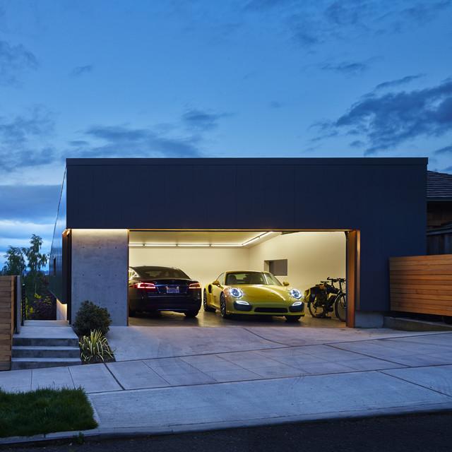 garage shop lighting ideas - Tesla Garage Modern Garage seattle by chadbourne