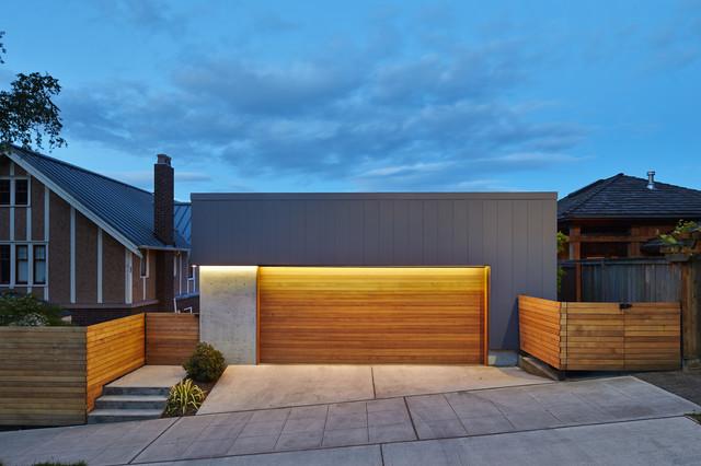 tesla garage moderno garage seattle di chadbourne