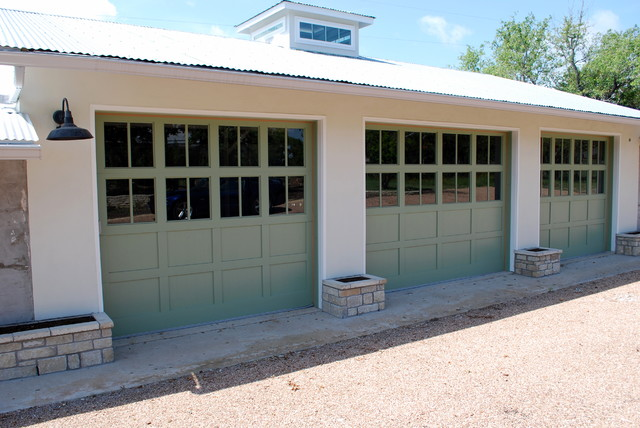 Texas hill country ranch house doors by cowart door for Ranch house garage doors
