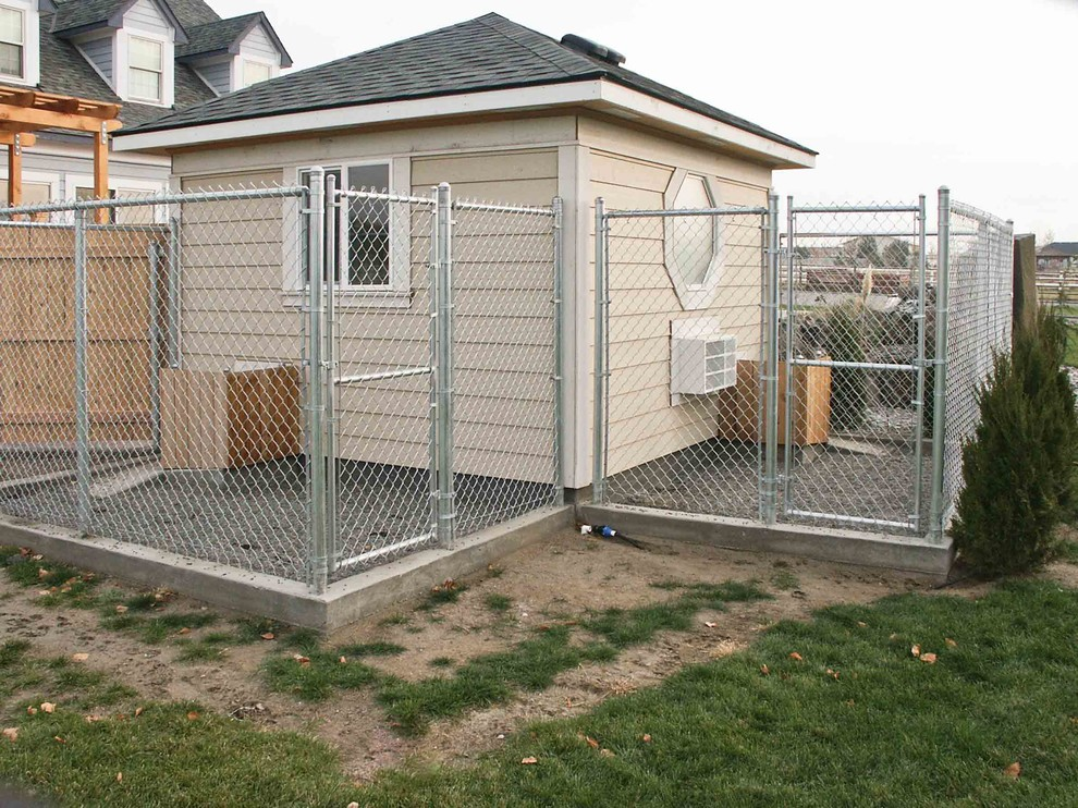 The Dual Dog Kennel Traditional, Dog Kennel Attached To Garage