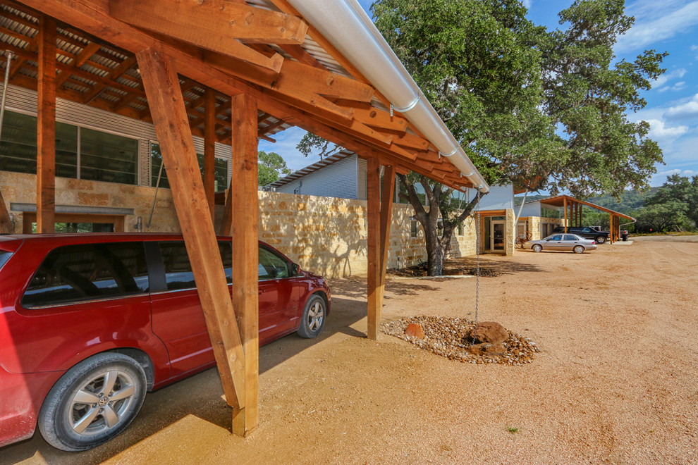 Mountain style garage photo in Austin
