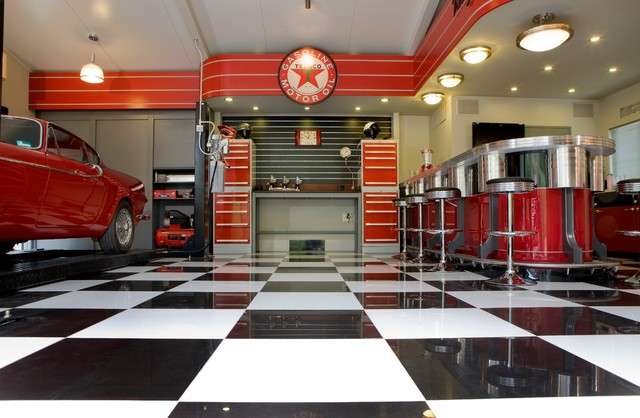 The streamliner garage industrial garage and shed for Custom garage design
