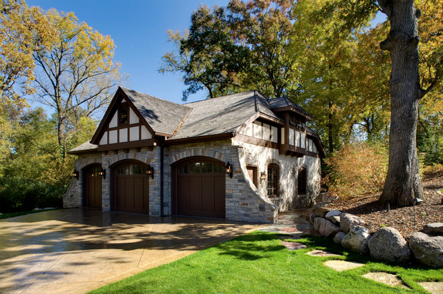Timeless Tudor Estate Traditional Garage Minneapolis