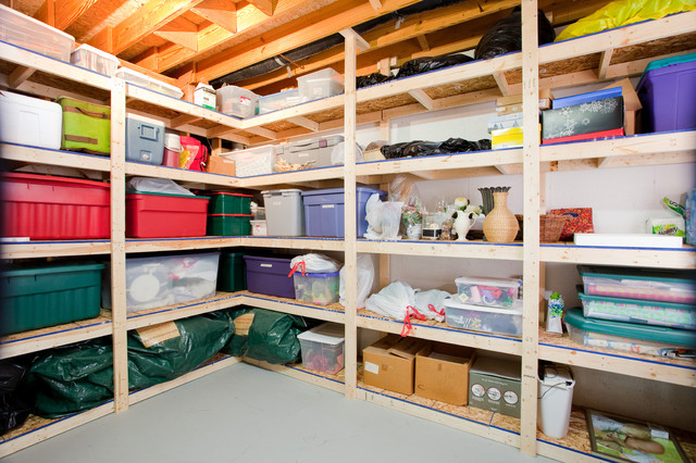 unfinished basement storage ideas.  12 Tips for Supremely Organized Basement Storage