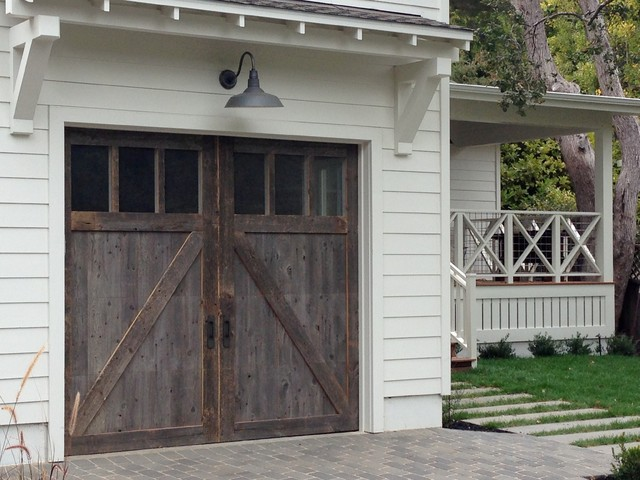 Barn Wood Garage Doors In Marin County Traditional Garage And Shed San
