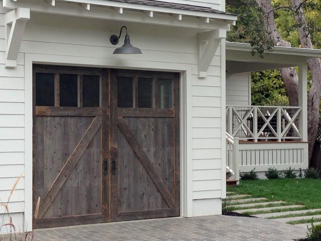 Barn Wood Garage Doors In Marin County Traditional