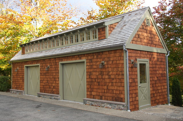 Two bay garage craftsman garage boston by jamaica for Two bay garage
