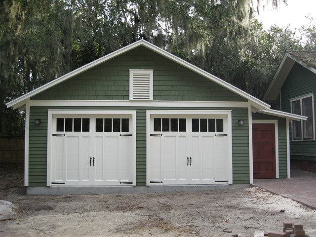 Two car bungalow garage craftsman garage and shed for Two car garage shed