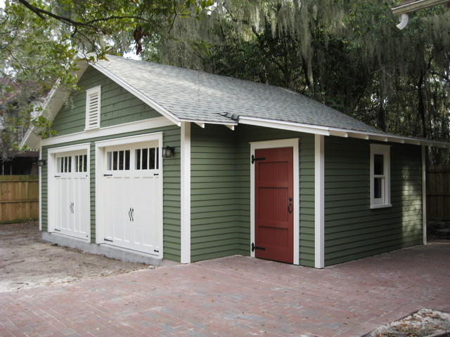 Two car bungalow garage in gainesville fl craftsman for Two car garage shed