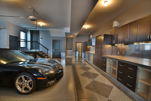 Ultimate Garage - Industrial - Garage - Edmonton - by Homes By ...