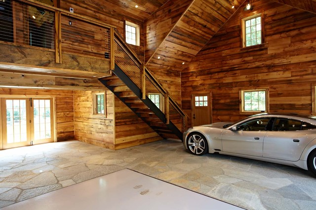 Ultimate man cave and sports car showcase - Eclectic - Garage - New York - by TR Building ...