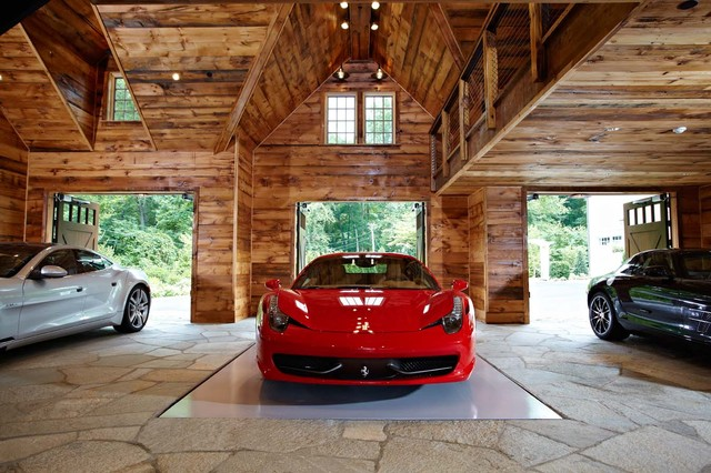 Ultimate man cave and sports car showcase - Traditional ...