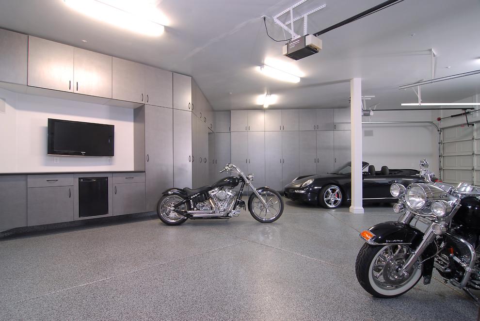 Huge minimalist garage photo in Seattle