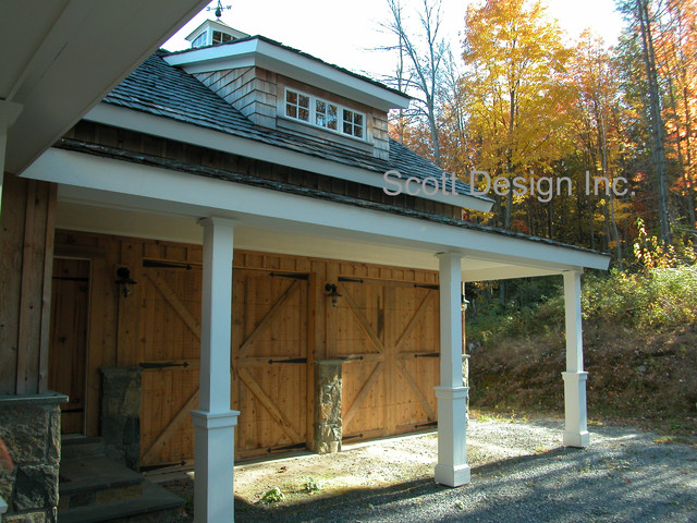 Vermont Ski House traditional-garage-and-shed