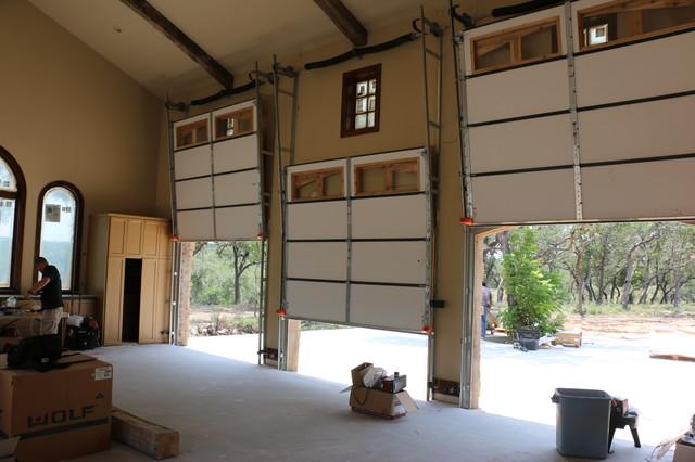 Vertical Lift Real Wood Overhead Garage Doors Traditional Garage