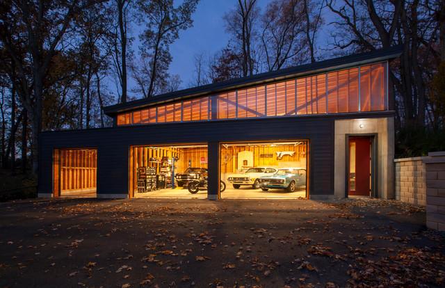 Vintage Modern Garage - Midcentury - Garage - Indianapolis - by HAUS |  Architecture For Modern Lifestyles | Houzz