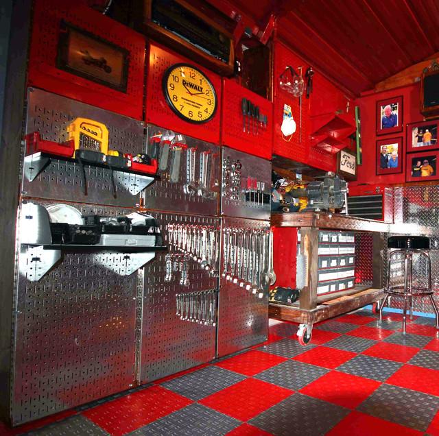 Wall Control Metallic Pegboard And Red Metal Pegboard