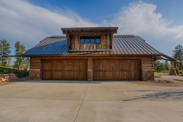 Rusted Steel rustic-garage-and-shed