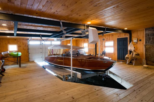 Western Red Cedar Paneling Rustic Garage