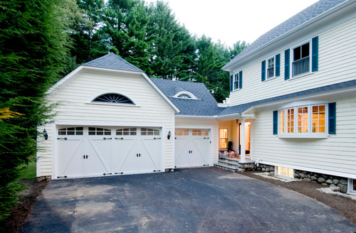 Traditional Garage by D.R.M. Design Build, Inc.