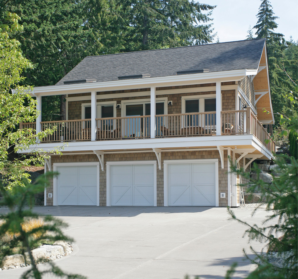 Example of a beach style garage design in Vancouver