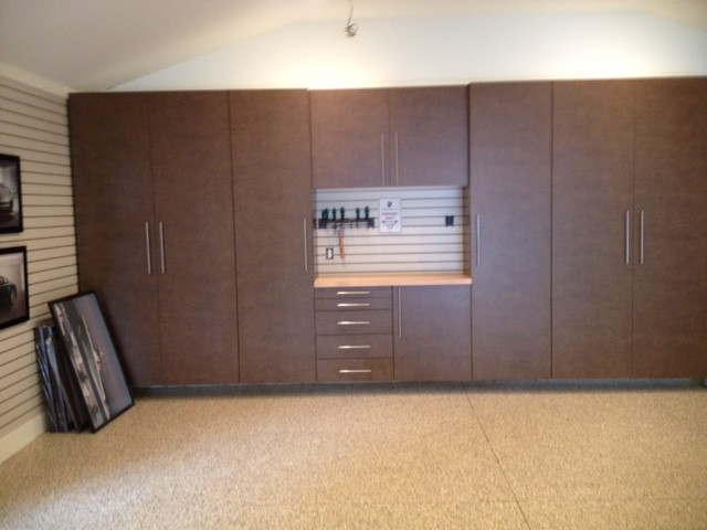 Windswept bronze garage cabinets modern garage for Premier garage cabinets