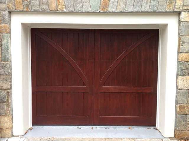 Wood and composite carriage garage doors traditional shed for Composite wood garage doors