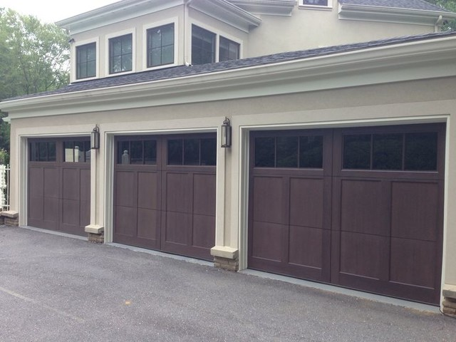 Wood And Composite Carriage Garage Doors Traditional