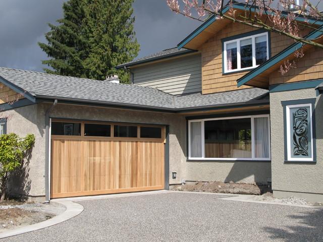 Wood Panel Garage Doors Vertical Planked Cedar Door With