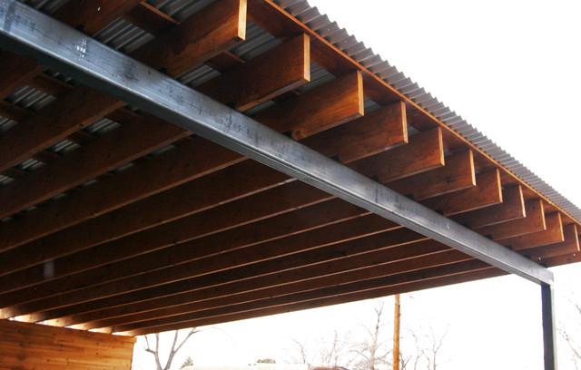 Wood Steel Carport Modern Garage Albuquerque By